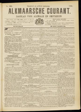 Alkmaarsche Courant 1906-09-18