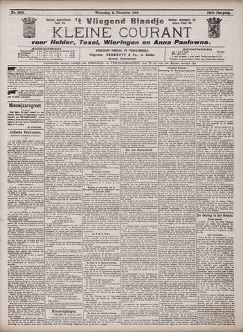 Vliegend blaadje : nieuws- en advertentiebode voor Den Helder 1904-12-21