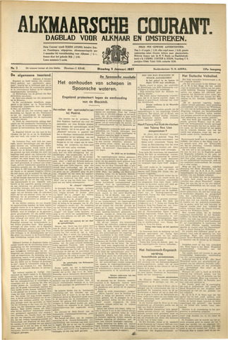 Alkmaarsche Courant 1937-01-05