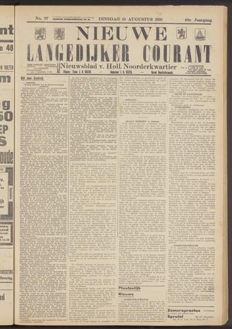Nieuwe Langedijker Courant 1931-08-18