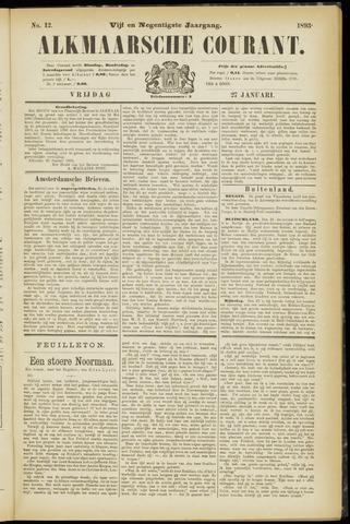 Alkmaarsche Courant 1893-01-27