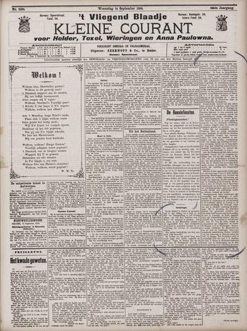 Vliegend blaadje : nieuws- en advertentiebode voor Den Helder 1904-09-14