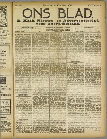 Ons Blad : katholiek nieuwsblad voor N-H 1908-10-24