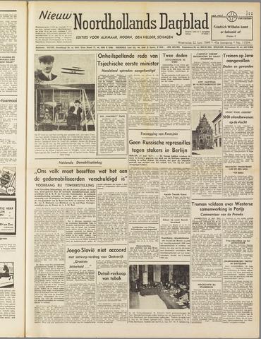 Nieuw Noordhollandsch Dagblad : voor Alkmaar en omgeving 1949-06-22