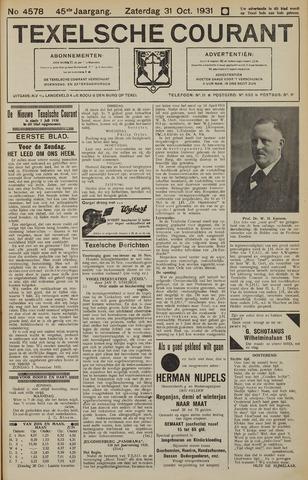 Texelsche Courant 1931-10-31