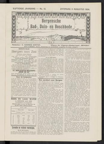 Bergensche bad-, duin- en boschbode 1924-08-09