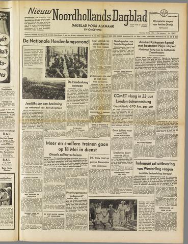 Nieuw Noordhollandsch Dagblad : voor Alkmaar en omgeving 1952-05-05