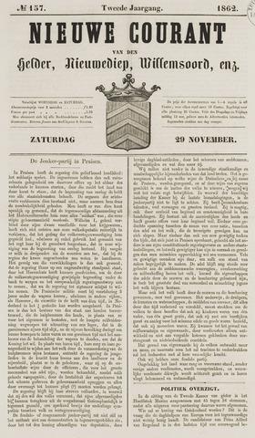 Nieuwe Courant van Den Helder 1862-11-29