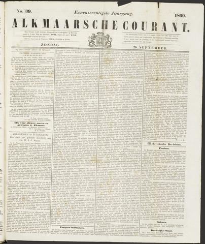 Alkmaarsche Courant 1869-09-26