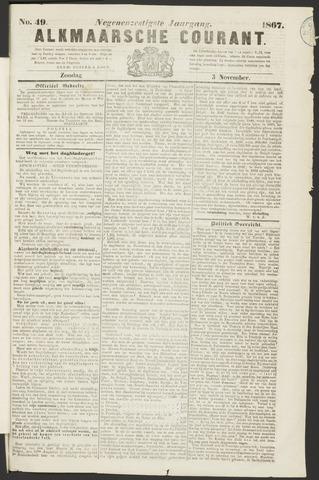 Alkmaarsche Courant 1867-11-03