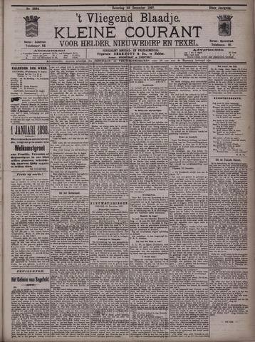 Vliegend blaadje : nieuws- en advertentiebode voor Den Helder 1897-12-25