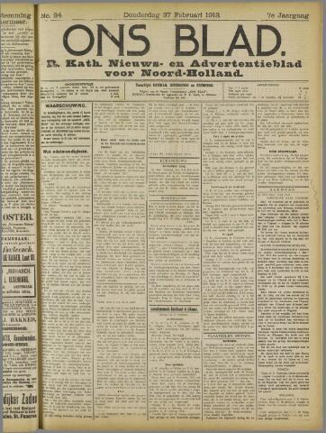 Ons Blad : katholiek nieuwsblad voor N-H 1913-02-27