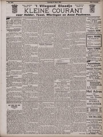 Vliegend blaadje : nieuws- en advertentiebode voor Den Helder 1903-03-21