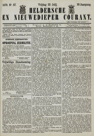 Heldersche en Nieuwedieper Courant 1870-07-22