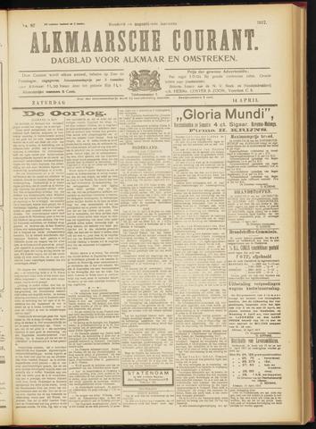 Alkmaarsche Courant 1917-04-14