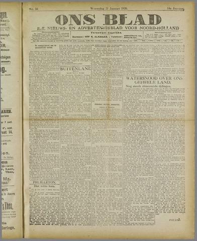 Ons Blad : katholiek nieuwsblad voor N-H 1920-01-21