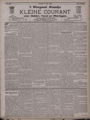 Vliegend blaadje : nieuws- en advertentiebode voor Den Helder 1900-06-20