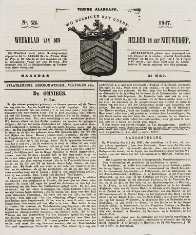 Weekblad van Den Helder en het Nieuwediep 1847-05-31