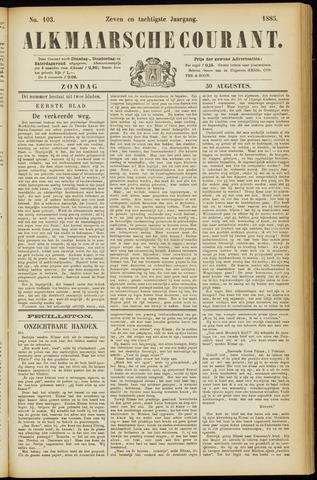 Alkmaarsche Courant 1885-08-30