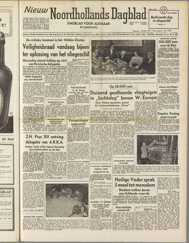 Nieuw Noordhollandsch Dagblad : voor Alkmaar en omgeving 1951-10-01