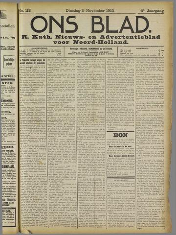 Ons Blad : katholiek nieuwsblad voor N-H 1912-11-05