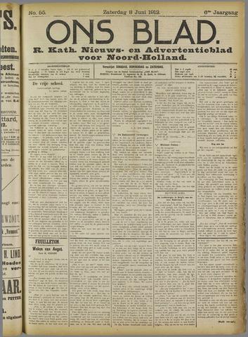 Ons Blad : katholiek nieuwsblad voor N-H 1912-06-08