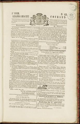 Alkmaarsche Courant 1851-03-31
