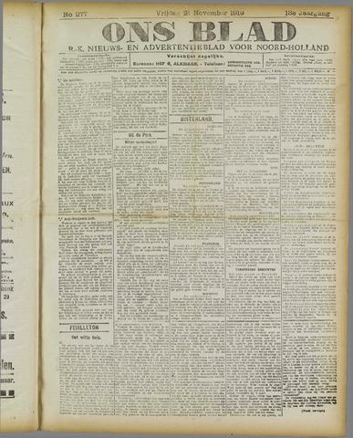 Ons Blad : katholiek nieuwsblad voor N-H 1919-11-21
