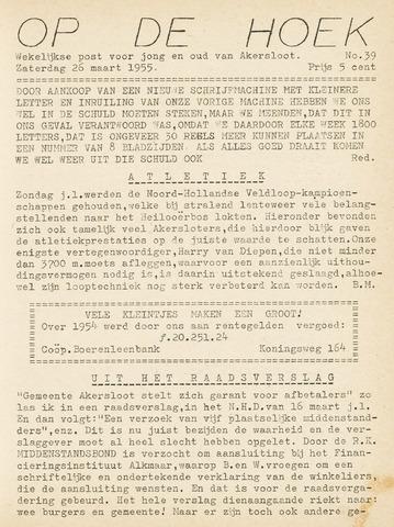 Op De Hoek, weekblad voor Akersloot 1955-03-26