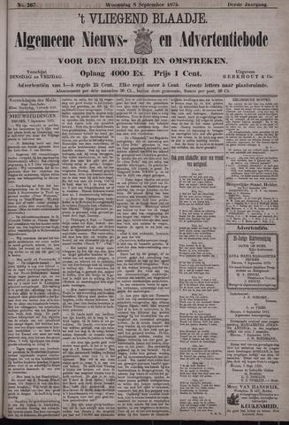 Vliegend blaadje : nieuws- en advertentiebode voor Den Helder 1875-09-08
