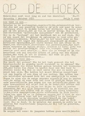 Op De Hoek, weekblad voor Akersloot 1955-10-01