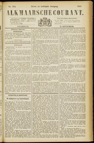 Alkmaarsche Courant 1885-09-25