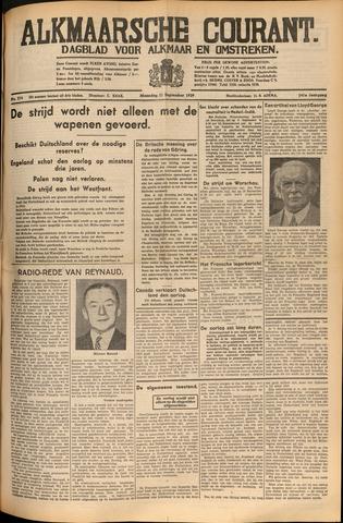 Alkmaarsche Courant 1939-09-11