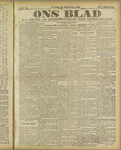 Ons Blad : katholiek nieuwsblad voor N-H 1919-02-21