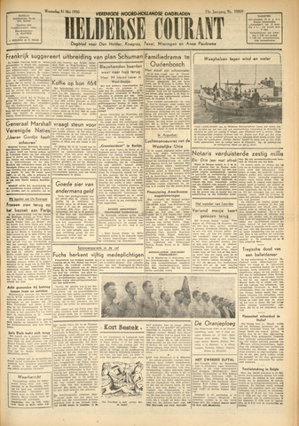 Heldersche Courant 1950-05-31