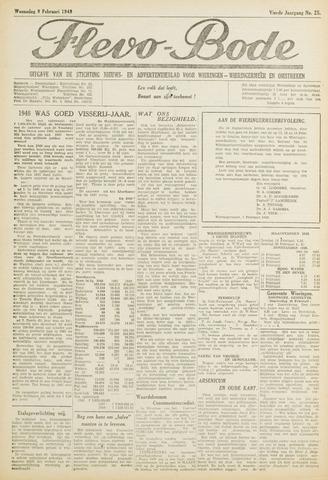 Flevo-bode: nieuwsblad voor Wieringen-Wieringermeer 1949-02-09