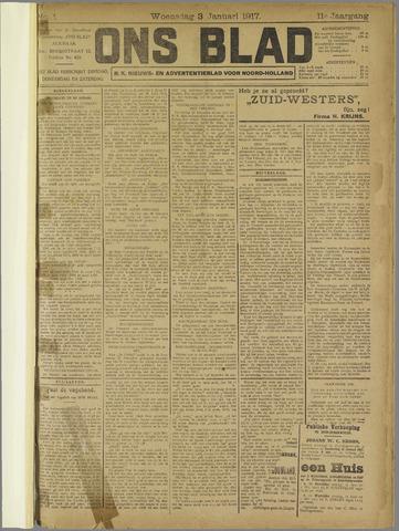 Ons Blad : katholiek nieuwsblad voor N-H 1917-01-03