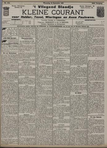 Vliegend blaadje : nieuws- en advertentiebode voor Den Helder 1908-09-23