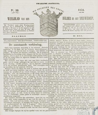 Weekblad van Den Helder en het Nieuwediep 1854-05-29