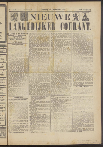 Nieuwe Langedijker Courant 1922-12-12