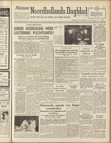 Nieuw Noordhollandsch Dagblad : voor Alkmaar en omgeving 1950-01-11