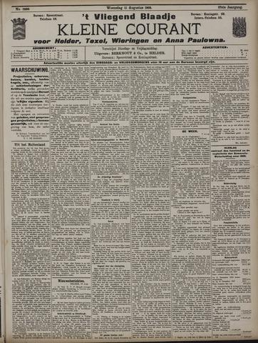Vliegend blaadje : nieuws- en advertentiebode voor Den Helder 1909-08-11