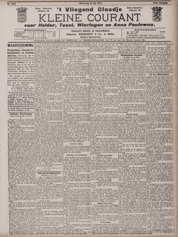 Vliegend blaadje : nieuws- en advertentiebode voor Den Helder 1903-07-15