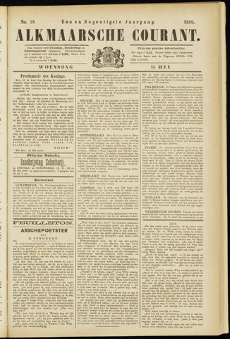 Alkmaarsche Courant 1889-05-15