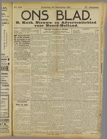 Ons Blad : katholiek nieuwsblad voor N-H 1911-12-30