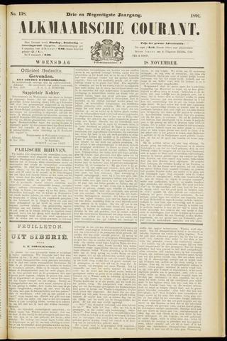 Alkmaarsche Courant 1891-11-18