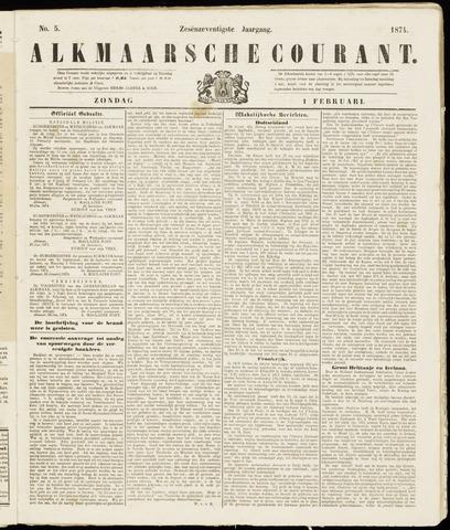Alkmaarsche Courant 1874-02-01