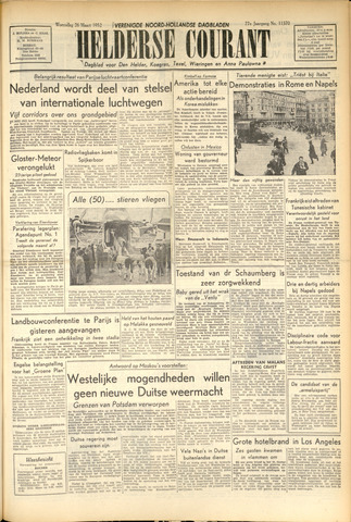 Heldersche Courant 1952-03-26