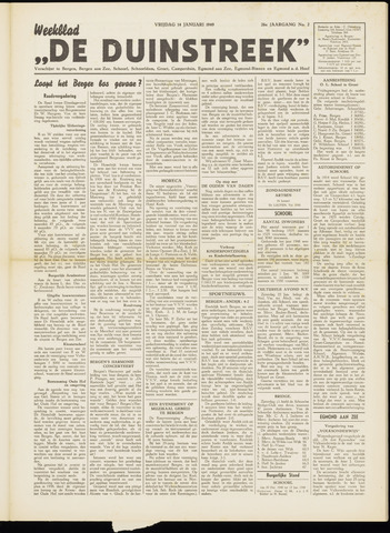 De Duinstreek 1949-01-14