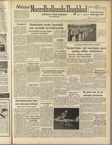 Nieuw Noordhollandsch Dagblad : voor Alkmaar en omgeving 1952-05-06